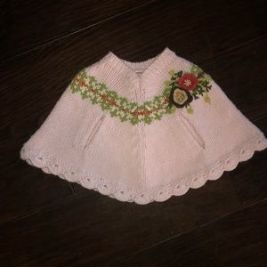Infant/toddler Old Navy Sweater Shawl 6-12 months